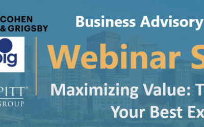Join Us for Maximizing Value: The Key to Your Best Exit