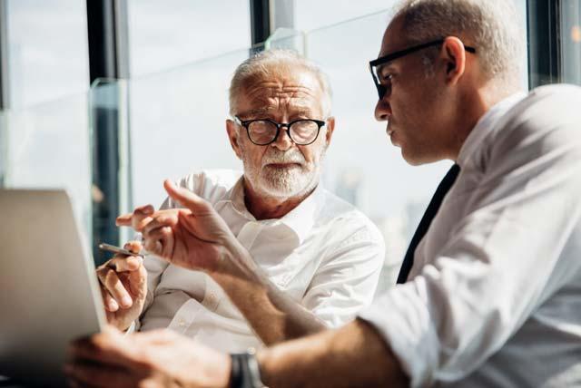Business Men Discussing Succession Planning